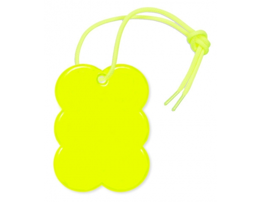Reflective pendant - Yellow cookie