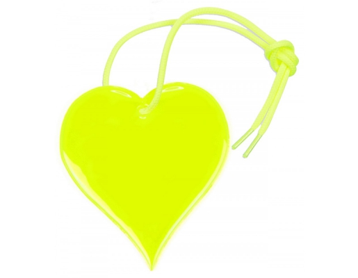 Reflective pendant - Yellow heart